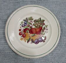"Wentworth Wedgwood England Pottery 8-1/4"" Fruit Plate Grape Pear Plum FREE S/H"
