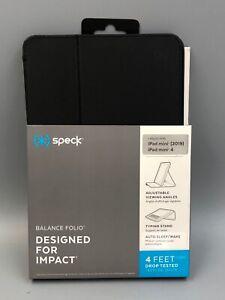 NEW Speck Balance Folio Folding Case for Apple iPad Mini 4 (2019) 5th Gen Black