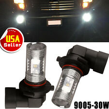 2x 9005 HB3 LED White Fog Driving Daytime Running Light DRL Car High Power 30W