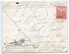 """Capo di Buona Speranza 1881 SOLDATI """"Lettera"""" 1st guerra boera con 1d in Scozia."""