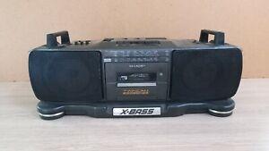 Vintage SHARP X-BASS stereo radio cassete recorder WQ-T359Z(GY)