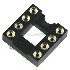 10PCS Round-Pin DIP 8  IC Sockets Integrated Circuit Adaptor Solder Type Socket