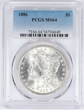 1886 Morgan Silver Dollar S$1 PCGS MS64 BU Unc