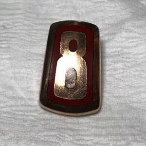 1946~1948 FORD SUPER DELUXE V8 COPPER? HOOD INSERT