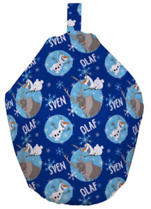 Childrens Room Disney Frozen Olaf and Sven Pre Filled Kids Beanbag Seat Gift