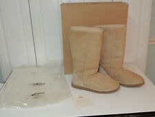 UGG AUSTRALIA CLASSIC TALL BOOTS WOMENS 11 SAND TAN BROWN SUEDE # 5815