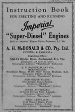 "McDonald Imperial ""Super Diesel"" Engine ""SE"" & ""CE"" Instructions  (Photocopy)"