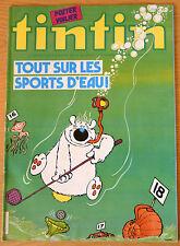 BD Comics Magazine Hebdo Journal Tintin No 24 37e 1982 Tout sur les Sports d'eau