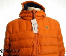 aeb3a4cc5e97 Lacoste Bh2533 Men s Ocre Hooded Lightweight Padded Quilted Jaket