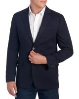 Nautica Mens Navy Blue 2-Button Blazer Sports Coat Jacket NWT Size 46 L