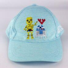 NWT Star Wars R2D2 C-3PO Heart Love Light Blue Hat Cap