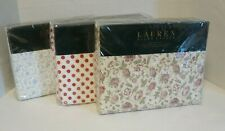 Ralph Lauren Sheet Set Twin Full Queen King Floral Polka Dot Cottage White Brown