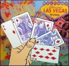 "Steve Kaufman ""Welcome to Las Vegas-Poker"" blue H.Signed Embellished Canvas"