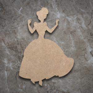 Large MDF Disney Cinderella Craft Wooden Shape Blank Wood 20 30 40cm Unpainted