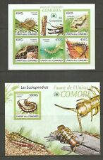 Comoro island / 2009 Centipedes, Fauna. Miniature and souvenir sheets.. MNH