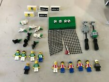 LOT OF 12 Lego Soccer Minifigs Players With Stands balls nets and more signs