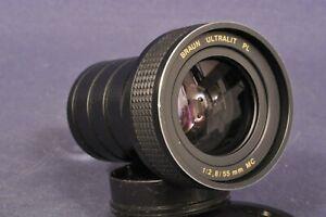 Braun Ultralit PL 2,8 / 55 MC Objektiv Projektionsoptik Diaprojektor Projector