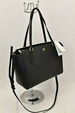 NWT TORY BURCH EMERSON SMALL BLACK  SAFFIANO LEATHER REVA  ZIP TOTE BAG  # 64188