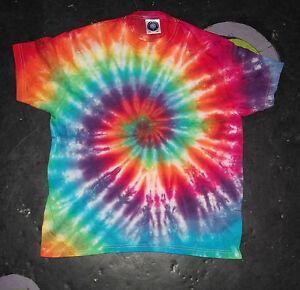Festival Kid's rainbow Tie Dye T shirt Hippy Children's Age 1-13 Cute