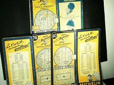 CARTE ROUTIERE MICHELIN ORIGINAL : N° 76 1947, N° 80 1947, N°64 1948