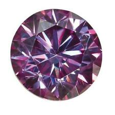 Loose Moissanite 5mm .50CT Purple Round Shape Certified USA