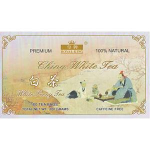 Premium China White Peony Tea - 100 Tea bags - 100% Natural - Caffeine Free