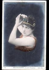 ARTISTE Theatre COMEDIE-FRANCAISE / Mlle SEGOND-WEBER , Buste avec DIADEME 1906