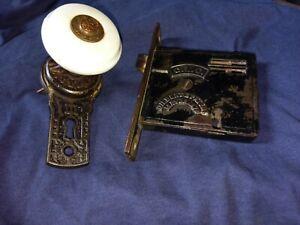 Vintage GILBERT (GLC) door Mortise-Patent May 30, 1876-Porcelain doorknob ornate