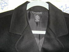 Dialogue Womens Black Jacket Wool and Cashmere Size 14