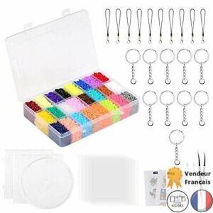 Lot 24000 Perles à Repasser Taille Mini 2.6mm 24 Couleur 3 Plaque Loisir Creatif