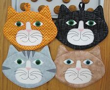 Allie Cats! sewing pattern make some really CUTE Cat Pot Holders or Mug Mats.