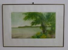 Guadalupe GAOS Artwork Art 6/150 paisaje con palmera - Landscape with Palm Tree