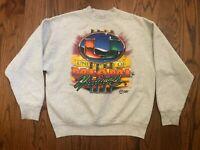 Miami Hurricanes The U Canes Vintage Fruit Of The Loom Gray Sweatshirt Men's L