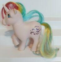 Vintage 1983 G1 My Little Pony Hasbro WINDY Unicorn-Rainbow Hair--Purple Glitter