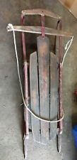 Antique Vintage Genuine Flexible Flyer No 47 J Sled Safety Runners, Super Steer