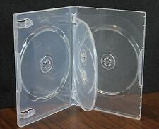 New 10 Pk MegaDisc Clear 4 Discs Tray DVD Case Box 14 mm Holder W Flap Premium