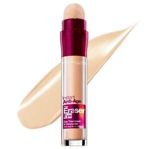 Maybelline Instant Anti-Age Eraser Eye Concealer, Nude 6.8ml w/GOJI Berry