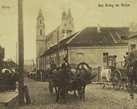 Horses Carts Vilnius Lithuania St. Raphael Archangel World War I WWI 8x10 Photo