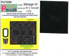Model Maker 1/72 DASSAULT MIRAGE III Paint Mask Set for the R.V. Aircraft Kit