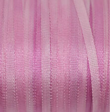 Pink Silk Ribbon 100% Pure 2mm Embroidery Hand Dyed Pale Magenta - 3 mtr Thin