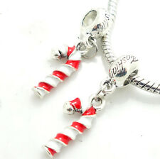 1pcs Silver Christmas European Charm Beads Fit 925 Necklace Bracelet Chain #14