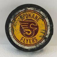 Vintage Spokane Flyers Puck 1974-79 Made in Canada PHL WIHL Washington