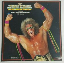 1991 WWF Superstars Wrestling Calendar Ultimate Warrior - RARE