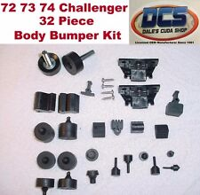 1972 73 74 Dodge Challenger & Rallye Body Bumper 32 piece Kit New MoPar