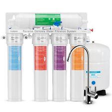 5 Stage Reverse Osmosis RO Water System With Twist Quick Change Filters 75 GPD