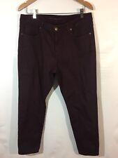 Michael Kors Jeans Women's Size 12 Skinny Cotton Stretch Wine Purple