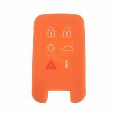 Fit Volvo V40 S80 XC60 6 Button Remote Key Fob Silicone Skin Case Cover Orange