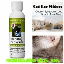 🐾Natural Care Cats Natural Ear Wash 4oz Best Exp 9/22 Cat Ear Mite Relief🐾