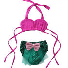 2PCS Kids Baby Girls Little Mermaid Bikini Set Bath Swimsuit Swimwear Beachwear