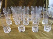 18 flutes à champagne cristal Daum Sorcy (crystal Champagne flutes)